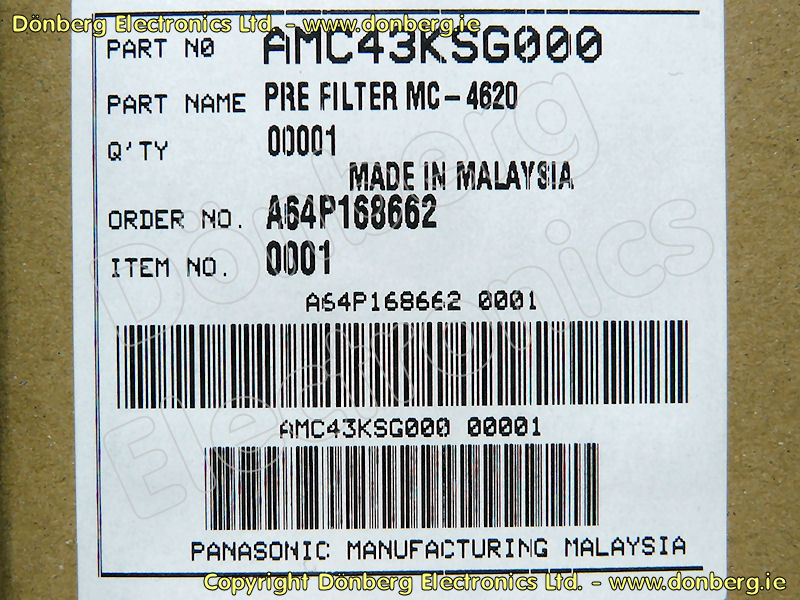 Panasonic AMC43KSG000 Filter